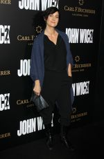 CARRIE-ANNE MOSS at 'John Wick: Chapter 2' Premiere in Los Angeles 01/30/2017