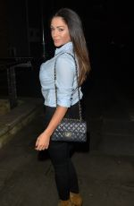 CASEY BATCHELOR Out for Dinner in London 01/27/2017