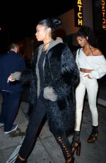 CHANEL IMAN and JOURDAN DUNN at Catch LA in West Hollywood 01/07/2017