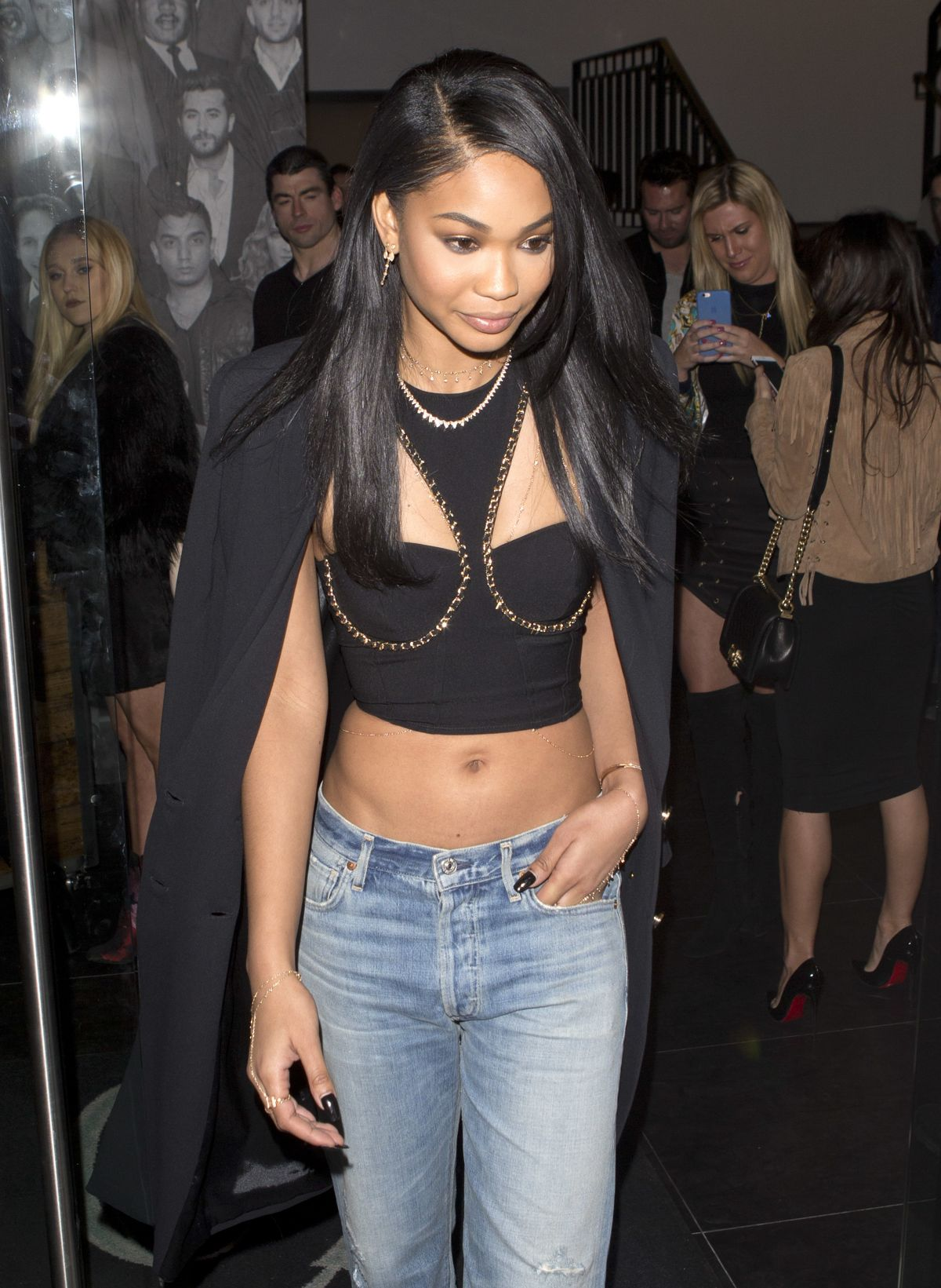 CHANEL IMAN at Catch LA in West Hollywood 01/27/2017