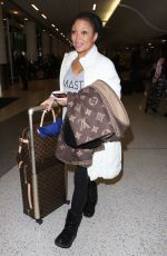CHANTE MOORE at LAX Airport in Los Angeles 01/12/2017