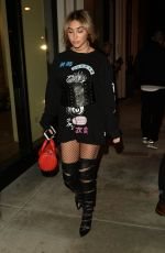CHANTEL JEFFRIES at Catch LA in West Hollywood 01/26/2017