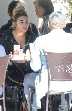 CHANTEL JEFFRIES Out for Lunch in Los Angeles 01/17/2017