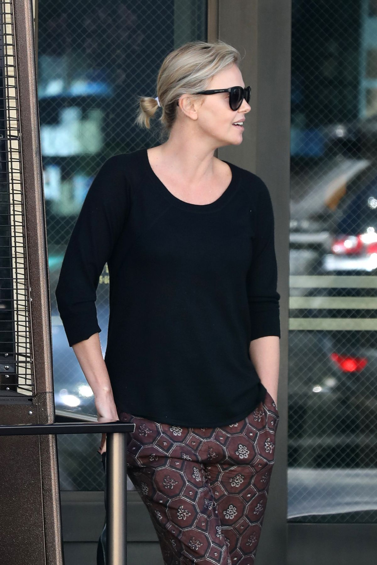CHARLIZE THERON Out and About in Beverly Hills 01/17/2017