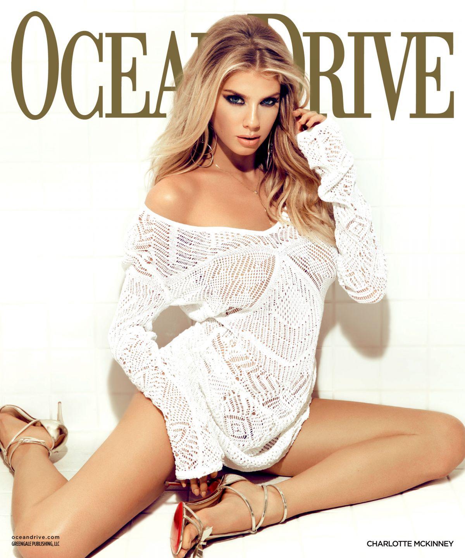 CHARLOTTE MCKINNEY in Ocean Drive Magazine, January 2017