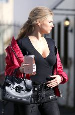 CHARLOTTE MCKINNEY Out and About in Studio City 01/12/2017