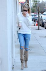 CHARLOTTE MCKINNEY Out for Coffee in West Hollywood 01/24/2017