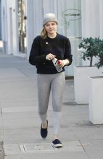 CHLOE MORETZ Out and About in Beverly Hills 01/14/2017