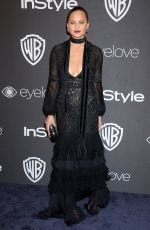 CHRISSY TEIGEN at Warner Bros. Pictures & Instyle's 18th Annual Golden Globes Party in Beverly Hills 01/08/2017
