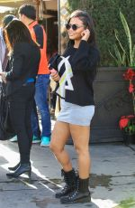CHRISTINA MILIAN in Short Skirt Out in Los Angeles 01/11/2017