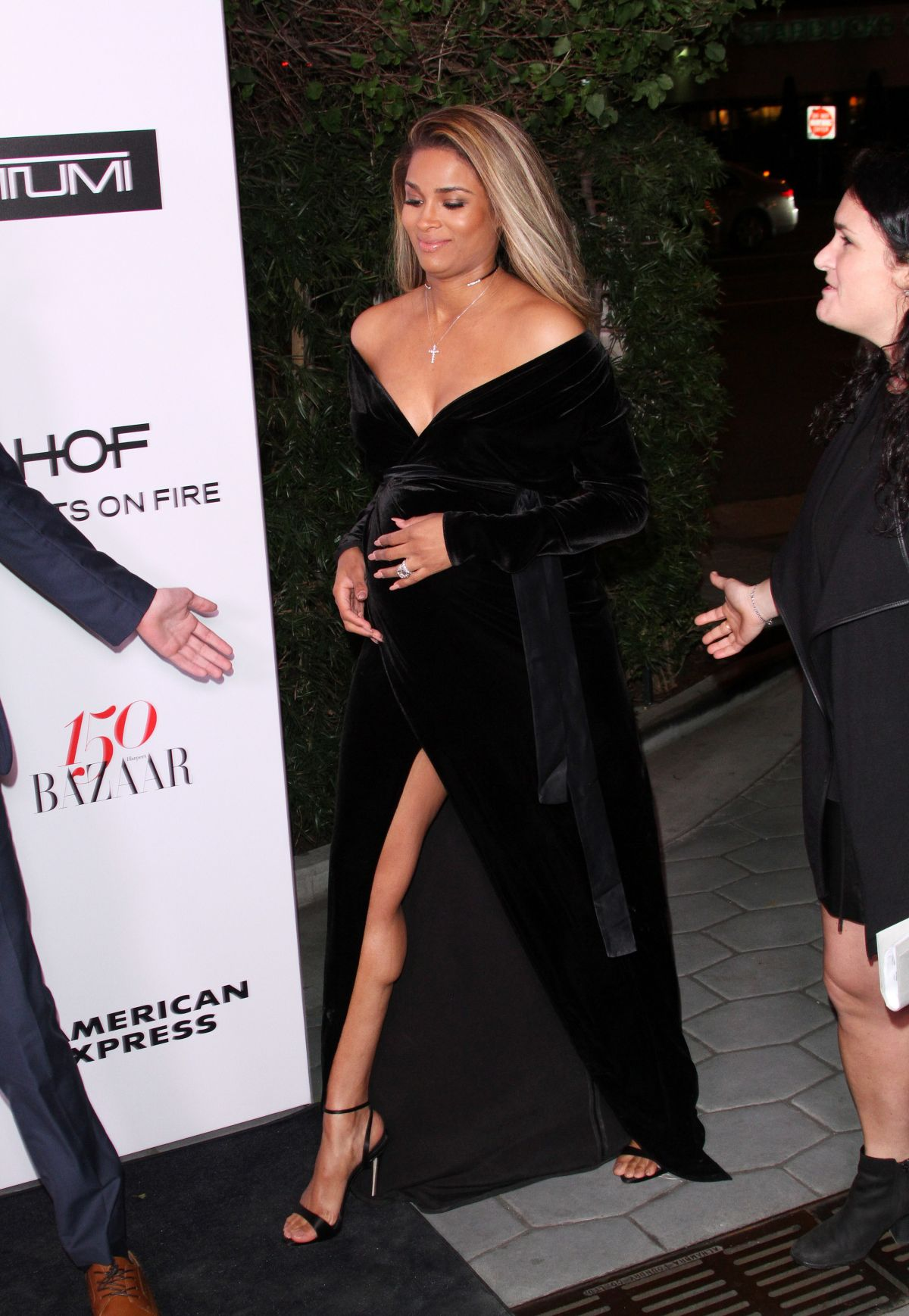 CIARA at Harper's Bazaar 150 Most Fashionable Women Party in Hollywood 01/27/2017