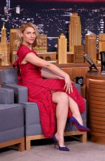CLAIRE DANES at Tonight Show Staring Jimmy Fallon in New York 01/13/2017