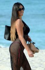 CLAUDIA ROMANI in Bikini at a Beach in Miami 01/26/2017