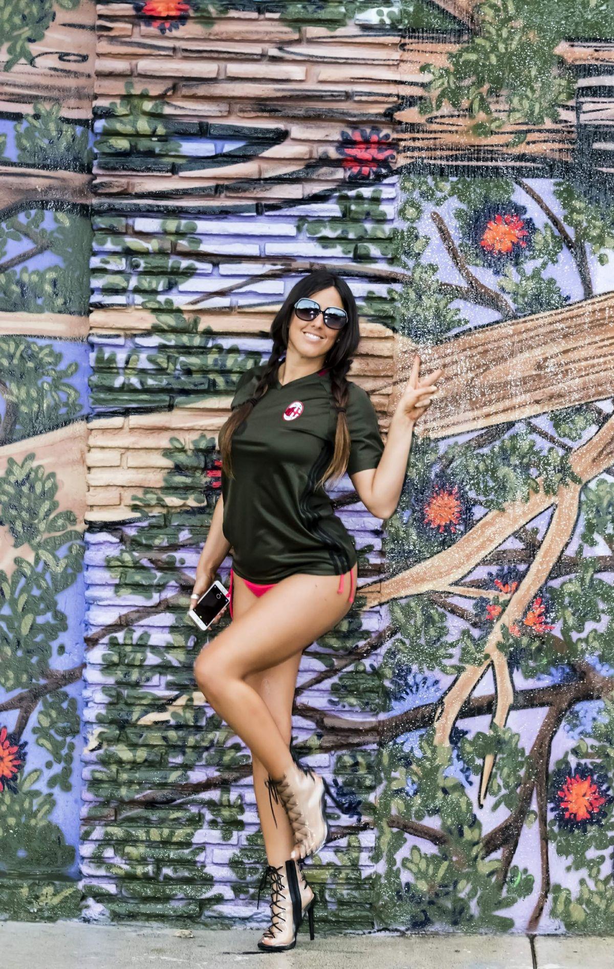 CLAUDIA ROMANI in Bikini Bottom Out in Miami 10/11/2017
