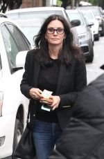 COURTENEY COX in Jeans Out in West Hollywood 01/12/2017