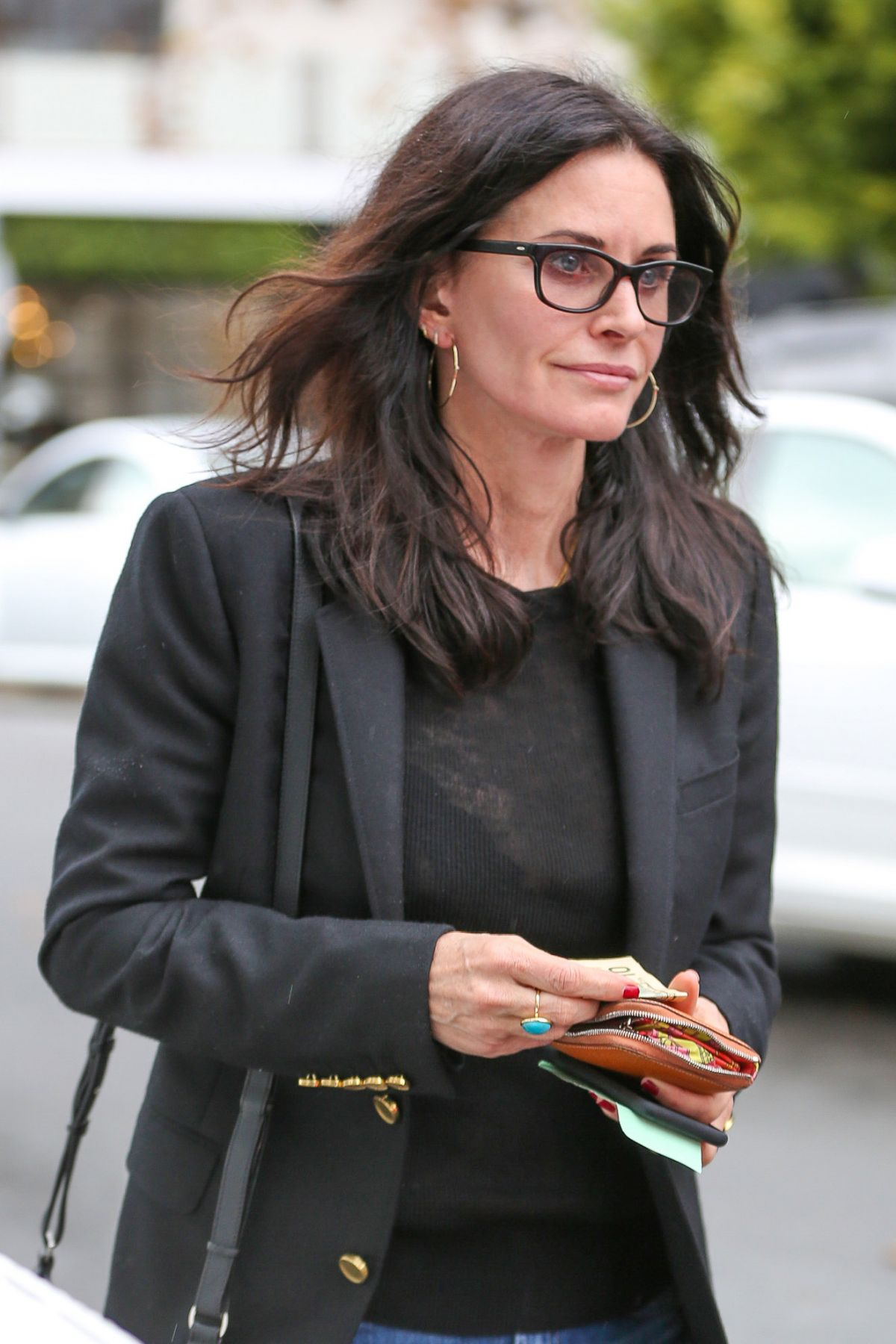 COURTENEY COX Leaves a Office in West Hollywood 01/12/2017 ...
