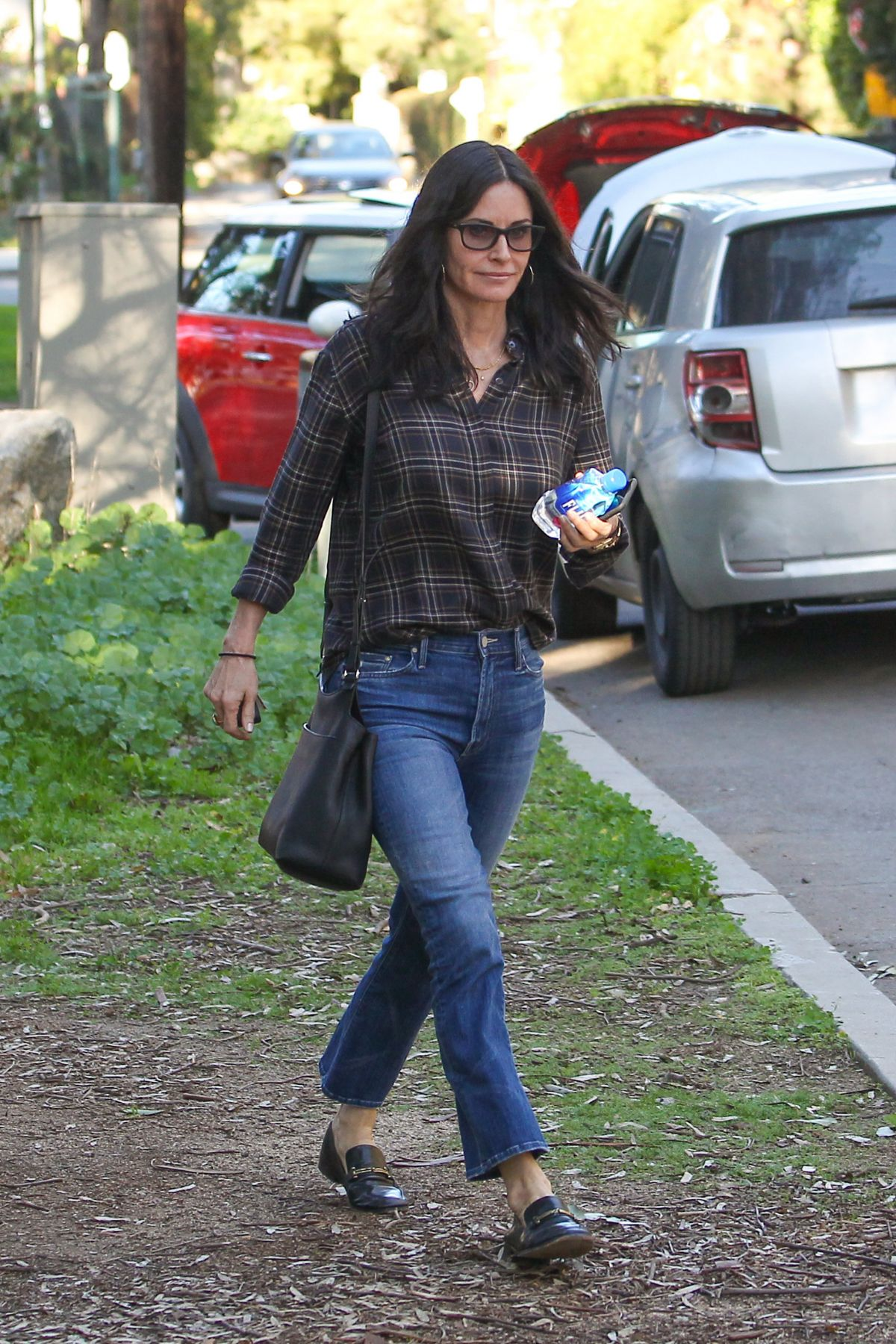 COURTENEY COX Out and About in Brentwood 01/28/2017
