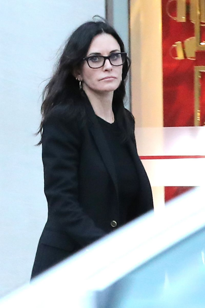 COURTENEY COX Shopping on Merlose in Los Angeles 01/12 ...