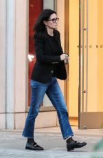 COURTENEY COX Shopping on Merlose in Los Angeles 01/12/2017