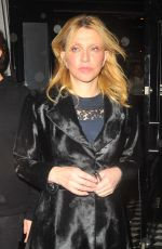 COURTNEY LOVE Out for Dinner at Craig