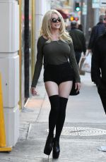 COURTNEY STODDEN in Tight Shorts Out in Beverly Hills 01/27/2017