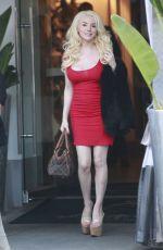 COURTNEY STODDENE Leaves a Restaurant in Beverly Hills 12/27/2016