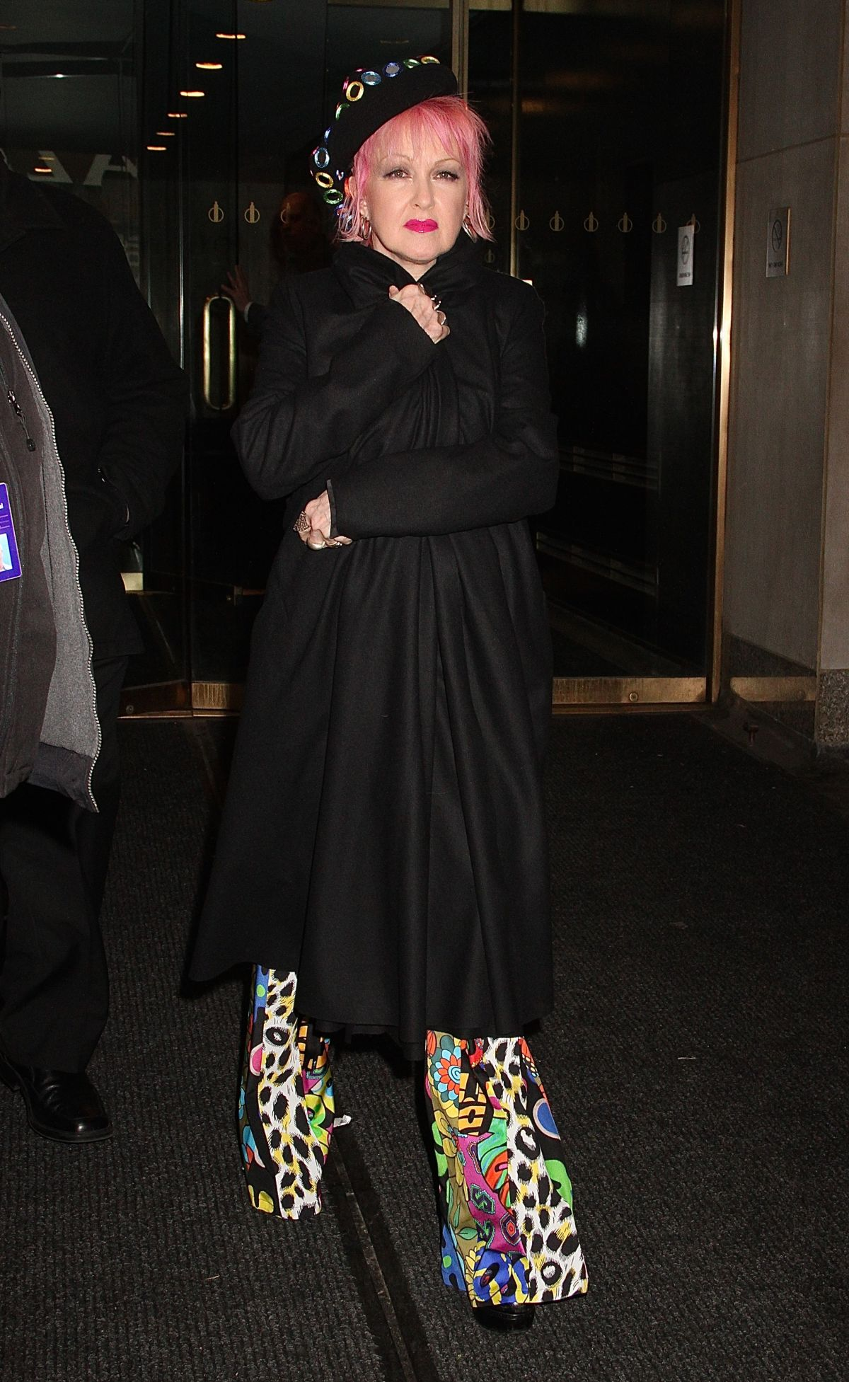 CYNDI LAUPER Arrives at Access Hollywood Live in New York 01/25/2017