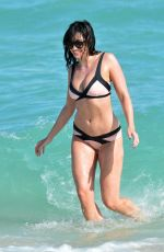 DAISY LOWE in Bikini at a Beach in Miami 01/02/2017