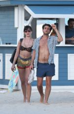 DAISY LOWE in Bikini Top Out in Miami Beach 01/03/2017