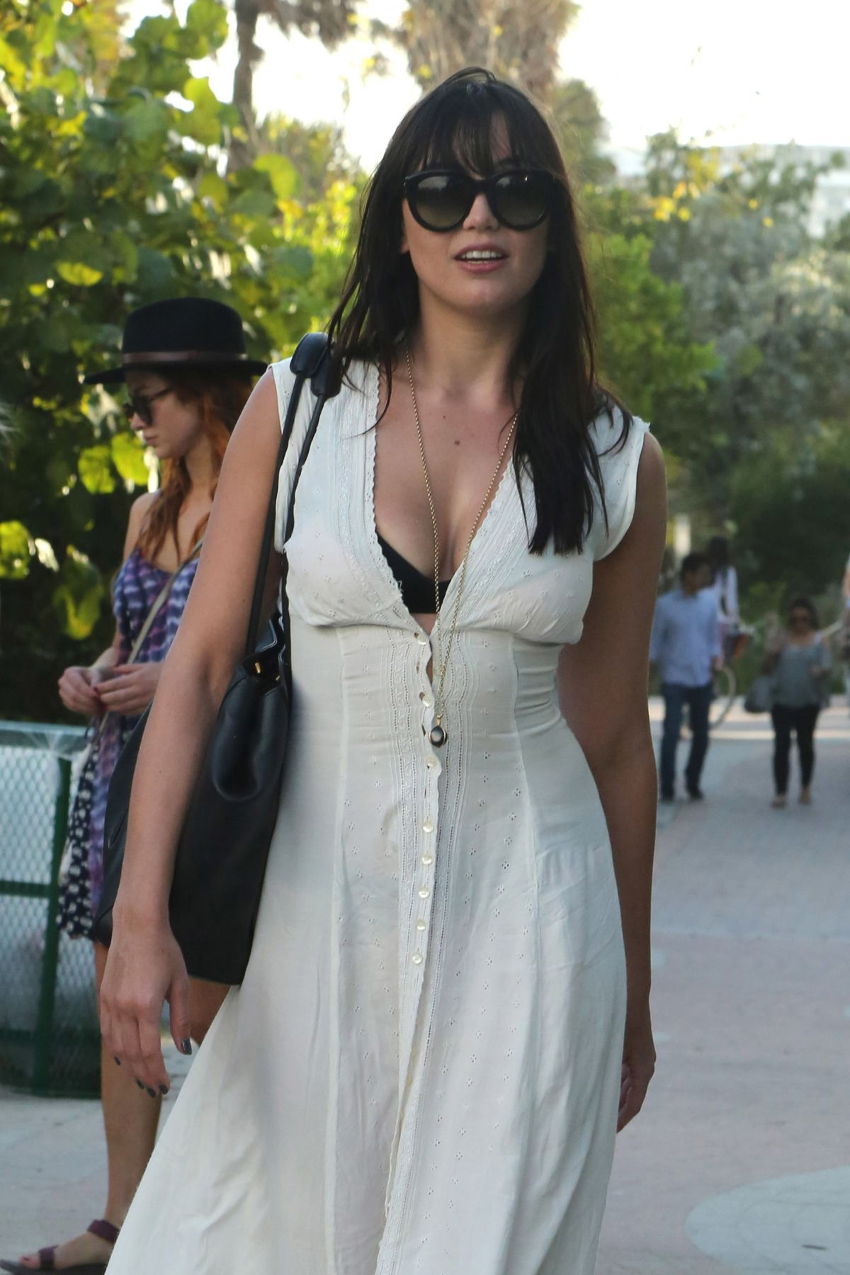 DAISY LOWE Out and About in Miami Beach 01/02/2017
