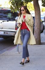 DAKOTA JOHNSON Out and About in Los Angeles 01/16/2017