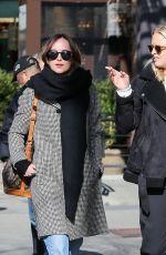 DAKOTA JOHNSON Out in New York 01/30/2017