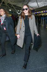 DAKOTA JOHSNON at JFK Airport in New York 01/29/2017