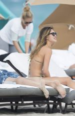 DANIELLE KNUDSON and JOCELYN CHEW at a Beach in Miami 01/16/2017
