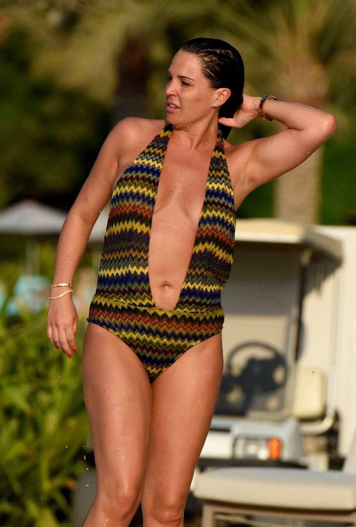 DANIELLE LLOYD in Swimsuit at a Pool in Dubai 11/28/2016