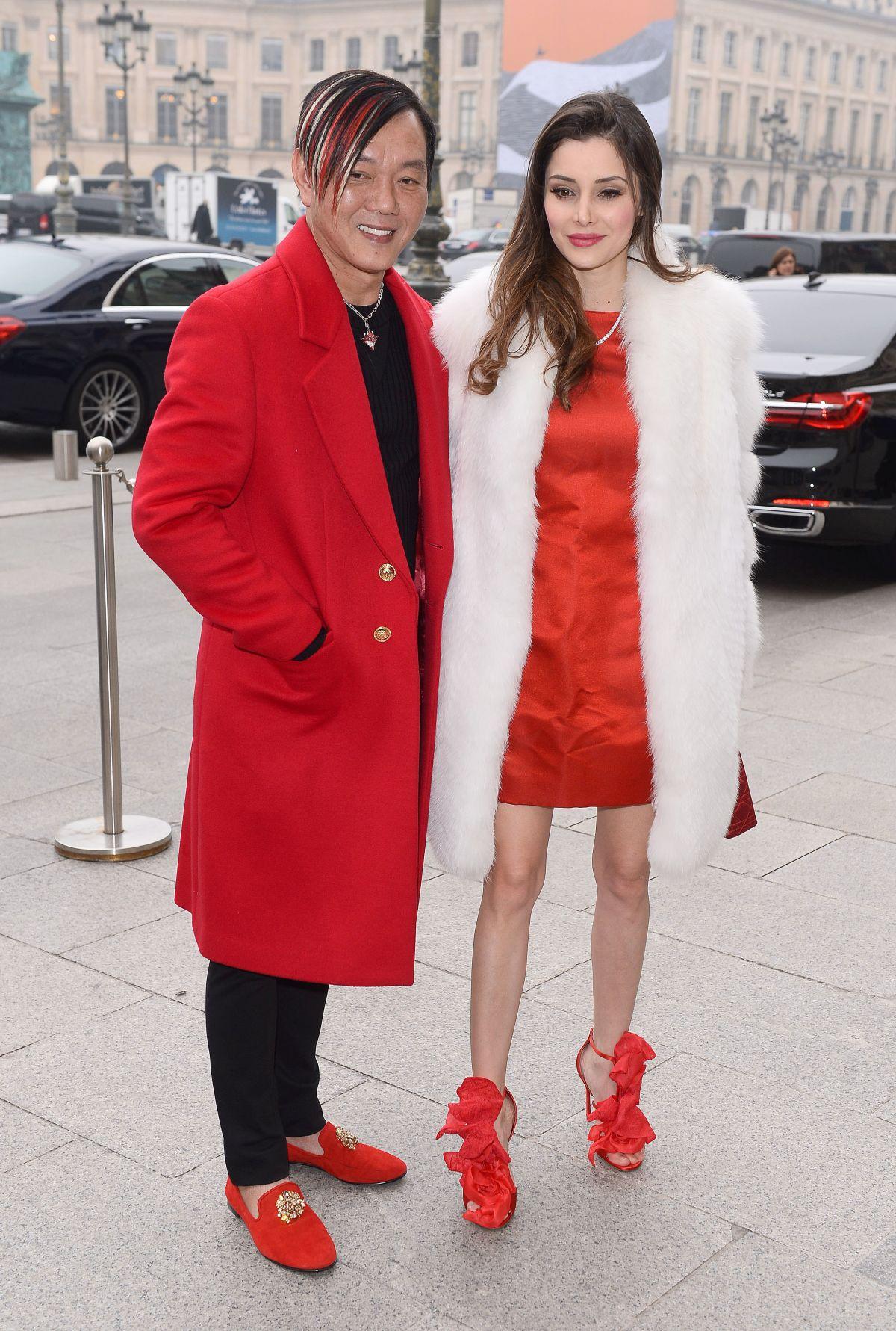 DEBORAH HUNG Arrives at Schiapparelli Fashion Show in Paris 01/23/2017