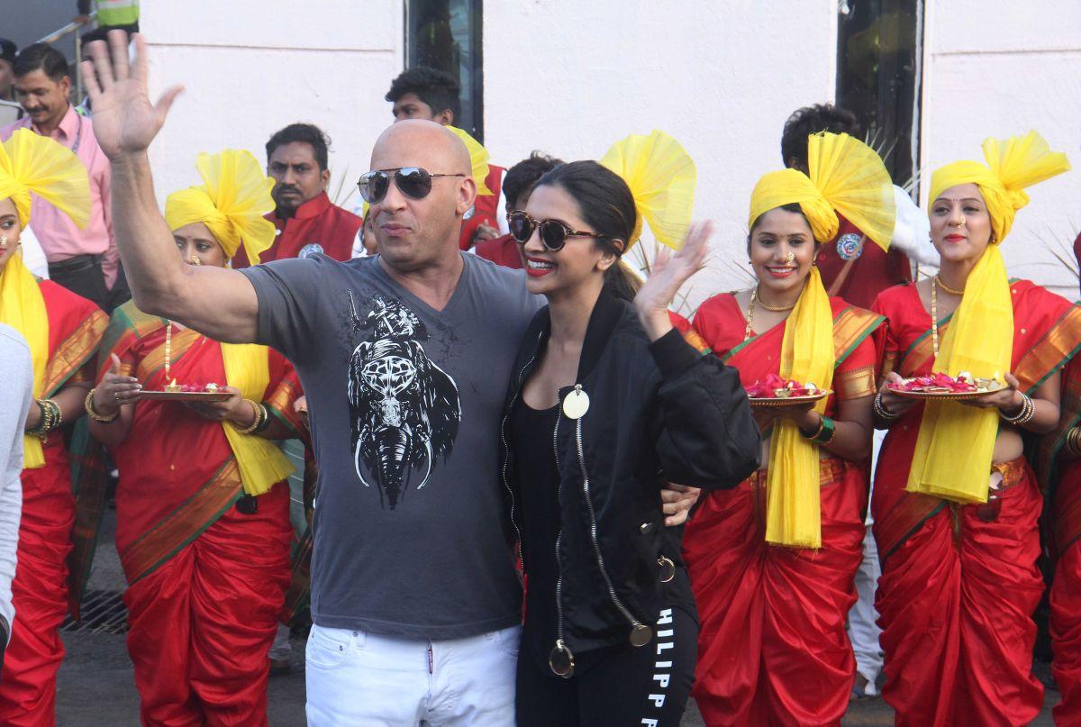 DEEPIKA PADUKONE and Vin Diesel at Airport in Mumbai 01/12/2017