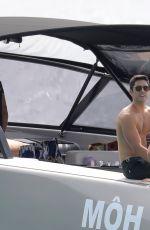 DEVON WINDSOR in Bikini at a Boat in St. Barth 01/30/2017