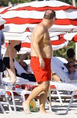 DORIT KEMSLEY in Bikini on the Beach in Miami 12/31/2016