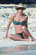 DOUTZEN KROES in Bikini at a Beach in Cancun 12/31/2016