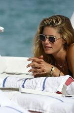 DOUTZEN KROES in Bikini at a Beach in Miami, 01/03/2017
