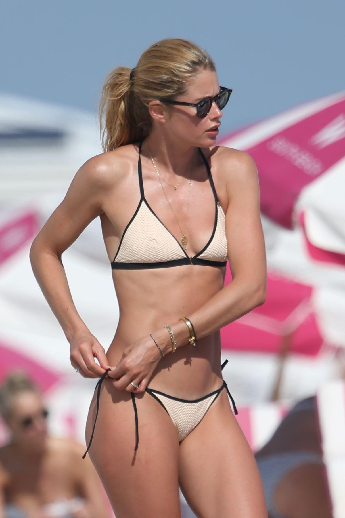 DOUTZEN KROES in Bikini on the Beach in Miami 31/12/2016