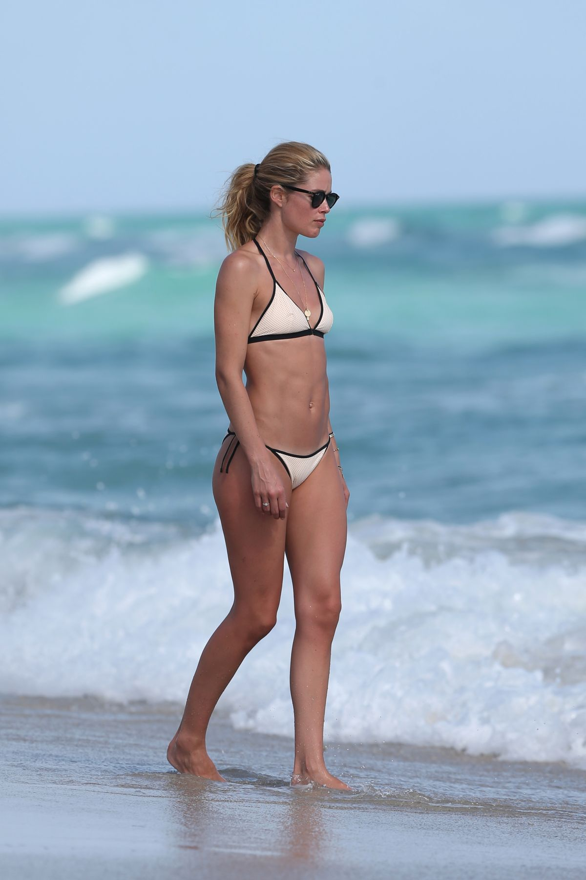 ed7221dc0cd60 DOUTZEN KROES in Bikini on the Beach in Miami 31 12 2016 - HawtCelebs