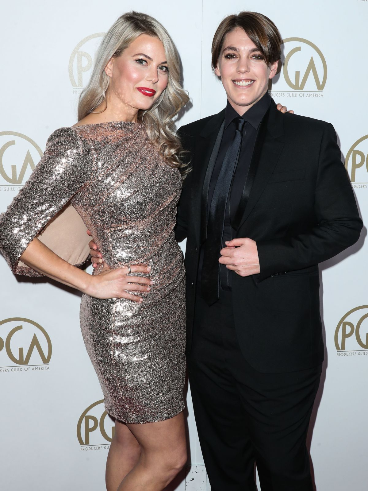 DREW DENY and MEGAN ELLISON at 28th Annual Producers Guild Awards in Beverly Hills 01/28/2017