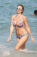 ELENA SAMODANOVA in Bikini at a Beach in Miami 01/05/2017