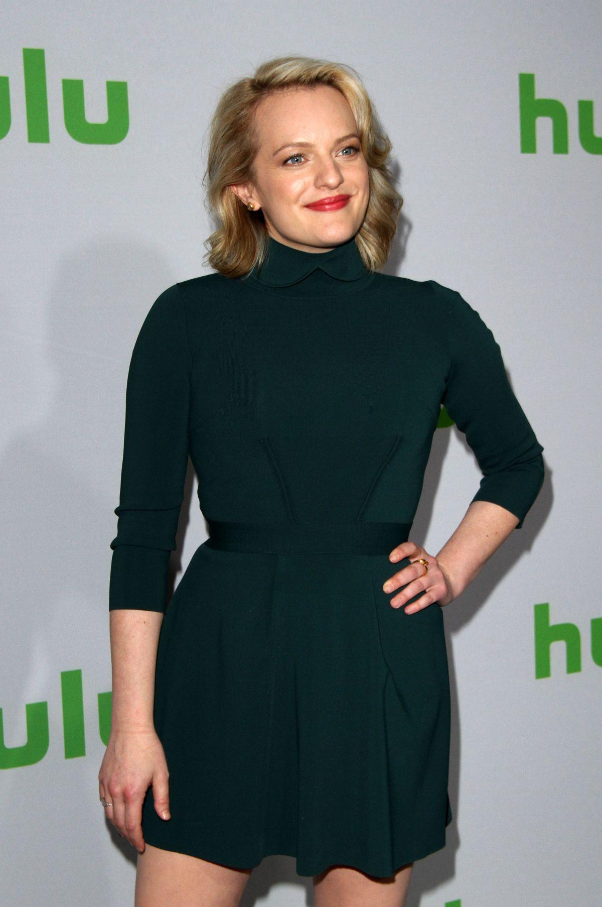 ELISABETH MOSS at Hulu's Winter TCA 2017 in Los Angeles 01/07/2017