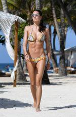 ELISABETTA GREGORACI in Bikini on the Beach in Kenya 12/29/2016