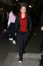 ELISAHA CUTHBERT at LAX Airport in Los Angeles 01/15/2017