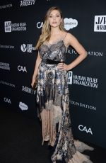 ELIZABETH OLSEN at 6th Annual Sean Penn & Friends Haiti Rising Gala in Beverly Hills 01/07/2017