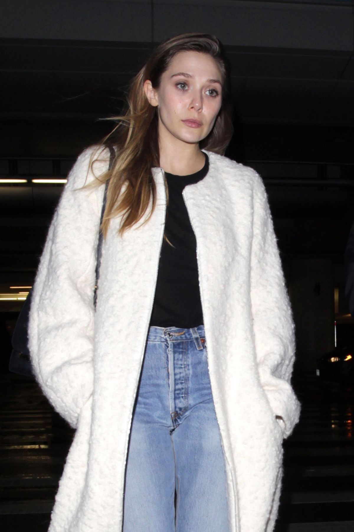 ELIZABETH OLSEN at LAX Airport in Los Angeles 01/22/2017